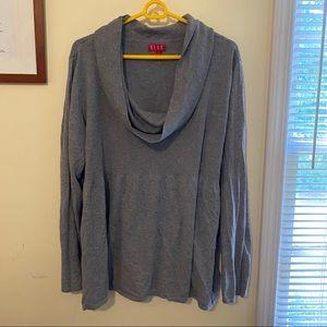 Elle Grey Cowl Neck Sweater 3x
